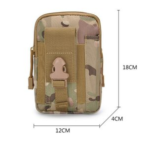 Universal Outdoor Tactical Holster Military Molle Hip Waist Belt Bag Wallet Pouch Purse Phone Case with Zipper for 7Plus