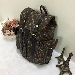 2020New Mike mochila saco de viagem pu material de grade preta de alta qualidade mochila, 013