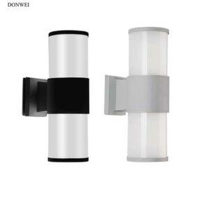 Donwei Открытый Водонепроницаемый E27 Светодиодная Настенная Света Крыльцо Подготовка к двойной головке Алюминиевый IP65 Настенный фонарь для Балкона Прихожая