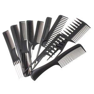 10 Pezzi Weaving Hair Styling pettine Hair Salon evidenziazione Combs neri