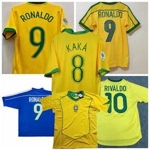 1988 1994 1998 2000 2002 2004 2006 Retro Soccer Jersey Ronaldinho Rivaldo Brasil Camisa de fútbol S-2XL