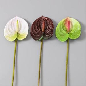 Matrimonio Casa Decorative Fiori Artificiali Anthurium 3D stampa PU succulenta anthurium 68 centimetri di altezza