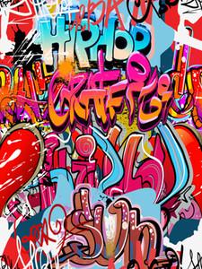 Colorato Graffiti hip Hop vinile fondali fotografia senza soluzione di continuità Photo Booth sfondi per i bambini Festa di compleanno in Studio puntelli