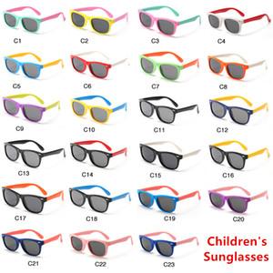Новые солнцезащитные очки для новорожденных Модные поляризованные солнцезащитные очки Детские Мальчики Девочки Детские солнцезащитные очки UV400 Оттенки Очки Очки Младенческая детская