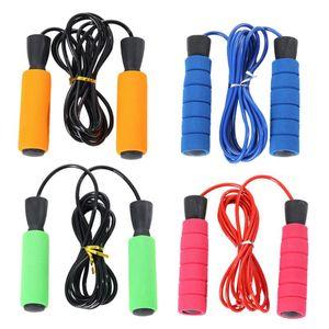 4pcs Sponge Handle Pular corda portátil Jumping Exercise Equipment Esporte Rope Skipping durável para Home School (laranja + verde + B