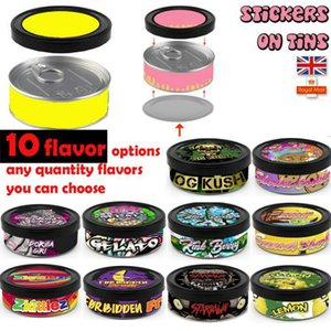 Disco Biscuits Cali Pressitin Tin Cans with 20type stickers Self-Seal Tin Box Blue Dream Cali Tin Labels Tuna Can Stickers UK