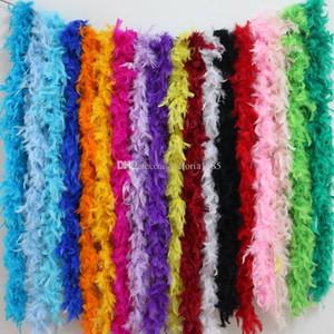 2 metros de pluma pollo Gaza Turquía boa de plumas para accesorios de vestir decoración de la boda la fiesta de cumpleaños de la boda