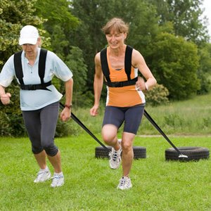 Sled Tire Puxando Strap Resistência de Fitness Treinamento de Força Correndo Workout Pad Shoulder Belt desportivos Outdoor Sports Euipment Acessórios