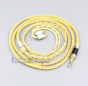 3,5 mm 2,5 mm 4,4 mm 8 Cores 99,99% argent pur + plaqué or Câble pour Sony écouteurs-M7 REI REI-M9-REI Z1R LN006489