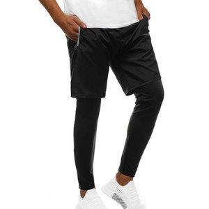 QNPQYX новых людей вскользь Спорт Тонкий Тренировочные брюки Тренировочные брюки Брюки Jogger Бег тренировки Casual Solid Color двойной слой Pants