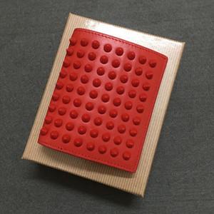2020 Популярные мужские и женские бумажник заклепки короткие складка кожи кошельки бумажник и держатели кошельки сумки кредитных карт ведро мешок