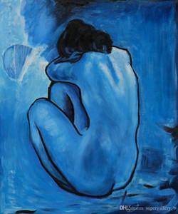 الشهير بابلو بيكاسو - الأزرق عاري اليد رسمت جدار ديكور الفن التجريدي زيت على قماش اللوحة جدار الفن متعدد الأحجام خيارات الإطار G170
