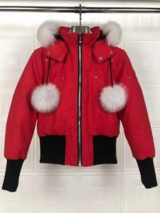 Canada Forbici piumino corto bomber giacca invernale corta progettista piumino per le donne rosso bianco nero donna verso il basso