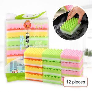 1pcs bag kitchen dish washing sponge block scouring pad sponge cleaning block double-sided strong decontamination wash pot wipe