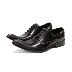Batzuzhi Zapatos Hombre Robe en cuir bout pointu Formal Chaussures Hommes Chaussures à lacets entreprises Messieurs zapatos de hombre, Big Size