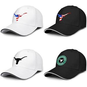 Texas Longhorns Starbucks Vert camion conducteur réglable Sandwich chapeau de golf Rétro Mignon Cap football logo noir USA Drapeau de Football Gris St.