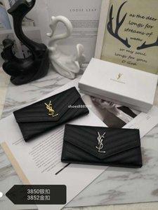 YSL luxeconcepteur S328 2020 nouveau titulaire Livraison gratuite dame gros longue bourse de pièces design multicolore portefeuille de la carte femmes boîte d'origine cl