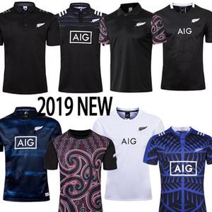 maori maillot de rugby 2019 2020 Noruega Coupe du Monde KIWIS 19 20 taille de chemise de rugby costume de formation manches courtes Coupe du monde S-5XL pas cher