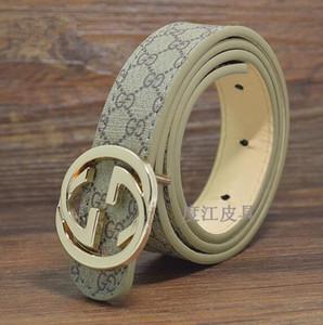 Vente en gros New Classic marque ceintures en cuir enfants PU enfants lettres boucle enfants Litchi Pattern sangle de taille Loisirs / taille