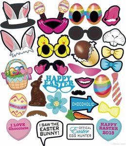 Conejito de Pascua del polluelo por mayor de papel de los apoyos del juguete de pascua Decoración Dibujo Juguetes conejo Fiesta del huevo de Pascua apoyos de la foto