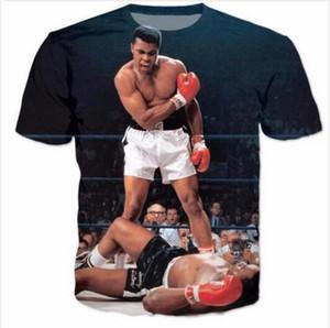 Date Design Womens / Mens Muhammad Ali Drôle Manches Courtes 3D Imprimer T-shirt Unisexe Style Été Casual T-shirt Livraison Gratuite