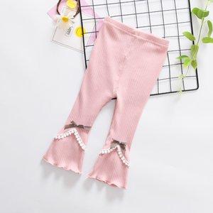 Primavera otoño de las muchachas de las polainas Pantalones Solid Boot Cut los niños del bebé del tutú Leggings Niño Pantalones calentador de la pierna de 1-3 años Ropa