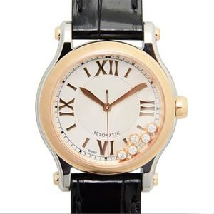 orologi di marca di orologi di lusso Happy Sport serie di diamanti movimento al quarzo orologio montre de luxe moda della signora Wristwatches cinturino in pelle