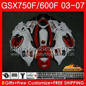Кузов Для SUZUKI Lucky Strike KATANA GSXF750 GSX600F GSX750F GSXF600 3HC.11 GSXF 750 600 03 04 05 06 07 2003 2004 2005 2006 2007 Комплект обтекателя