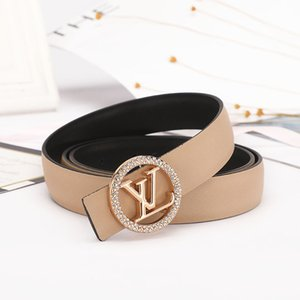Latón clásica Cinturón Luxurys diseñador GG S hebilla de la perla para la caja para hombre Mujer Jeans Faja Cinturón