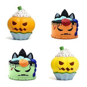 New Kawaii PU licorne Simulation citrouille jumbo crème glacée spongieuses Rising Halloween Ralentir jouets Décompression dessin animé squeeze fantaisie jouets pour enfants