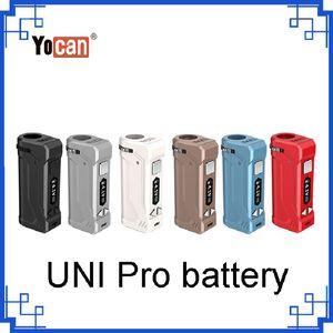 100% autêntico Yocan UNI Pro Box Mod Com 650mAh Tensão ajustável Vape Ecigs bateria para Magnetic 510 fio vaporizador Cartuchos