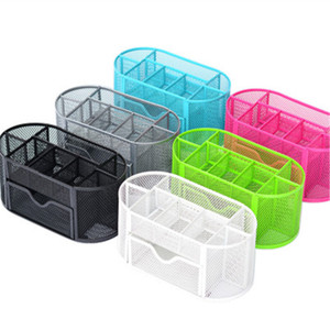 Desk Tidy Mesh Set Office Tidy Organizer Desk Caddy Tray Multi-funcional Pencil Pot Portalápices