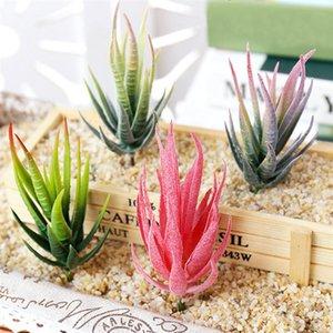 2PCS Artificial Succulent Plants Aloe Artificial Plants Landscape Fake Flower Arrangement Home Garden Decor