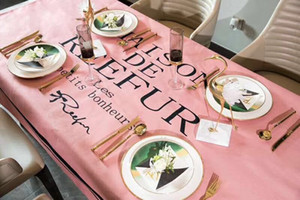 New X Letter Tablecloth Simple Tide Grid Waterproof Table Cloth Fashion Pop Europe and America Antependium