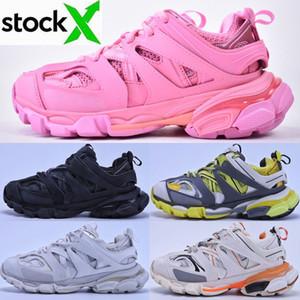 2020 mulheres Versão 3.0 Tess S Paris Pista Homens Gomma Maille Preto Triple S Clunky Sneaker calçados casuais Quente Plataforma Authentic Designer de sapatos