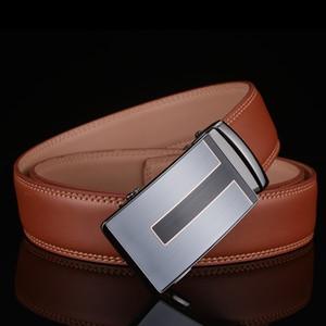 wholesale Leather Belt Men 2018 High Quality Designer Mens Belts Luxury Automatic Buckle Brown Business Casual Waist Belt B3