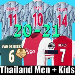 Thailand 19 20 21 Ajax Fußballtrikot PROMES Ajax Amsterdam VAN DE BEEK NERES 2020 2021 TADIC ZIYECH FUSSBALL SHIRT MÄNNER + KINDER SETS Uniform