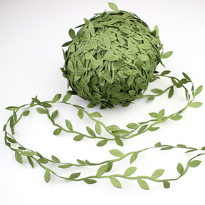 Novo Design 200m flores verdes artificiais Folhas Rattan DIY Garland grinaldas acessório para a decoração Home