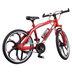 Una y diez de la sala Diecast Oficina Racing de aleación modelo ornamento niños Bicicleta Bici del juguete miniatura dedo accesorios del regalo de los niños