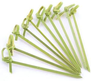 """Selecciones de cóctel de bambú palillos de dientes de bambú 4,7 """"brochetas suministros de fiesta para cóctel aperitivos frutas postre 100 cuentas"""