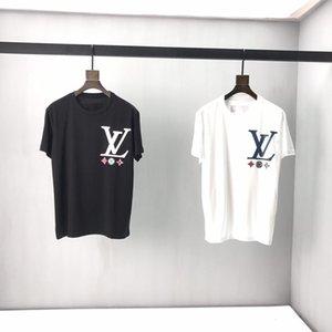 Camiseta 414 Jóvenes 2019Spring de verano para hombre del polo de la manera marca con la camiseta del tigre del lobo de manga corta camiseta de los hombres del bordado