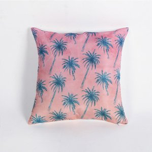 Canapé décoratif Ins style Coussin Tropical Plante Feuille Taie Polyester 45 * 45 Coussin Home Decor Coussin VT0090