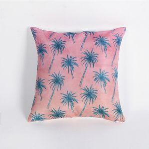 Koltuk Dekoratif Ins Stil Yastık Kapak Tropikal Bitki Yaprak Yastık Polyester 45 * 45 Atma Yastık Ev Dekorasyonu Pillowcover VT0090