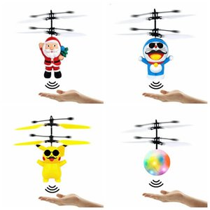 Christmas Santa Claus Flying toy SRC Aircraft for kids boys Electronic inductive Mini RC Drone helicopter gifts magic Christmas gift LXL617A