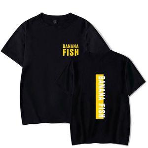 Cool Black Banana Fish T-Shirt Männer Frauen Harajuku Cotton Carton-T-Shirt Stück-Marke Kleidung Aufmaß Kurzarm T-Shirts