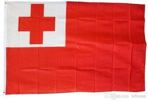 O Reino de Tonga Bandeira 90x150cm Flags TGA País Nacional de Tonga 3X5FT Bandeira do estilo personalizado, frete grátis