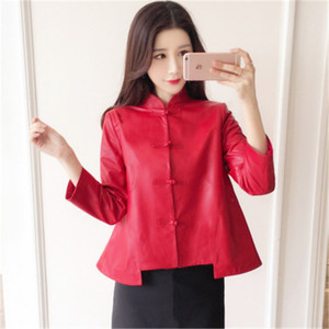 2020 Women Spring Genuine Real Sheep Leather Jacket R14