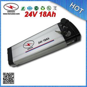 Estilo de prata Peixe 24 V 18Ah Bateria Ebike para Electric Bike / Bicicleta com BMS Carregador Frete Grátis