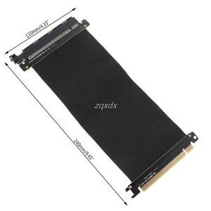 Bilgisayar Büro Bilgisayar Kabloları Konnektörler Yüksek Hızlı PCIexpress 16x Yükseltici Extender Kart Adaptörü Esnek Kablo WhosaleDropship