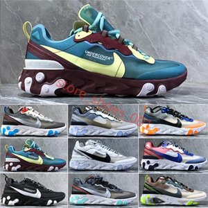 Ming6600 men platform women canvas shoes Hl mens athletic trainers white casual sneakers UNDERCOVER AIR React Element 87 casual FTE